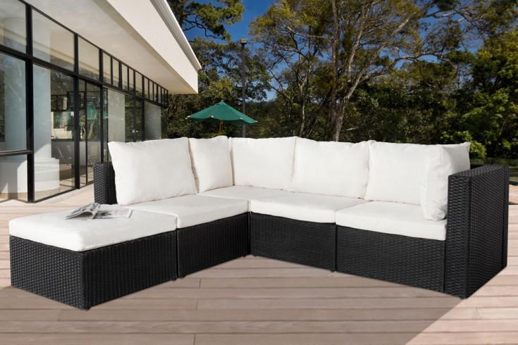 Gartensitzgruppe CANNES anthrazit weiß modular aufbaubar inkl. Couchtisch