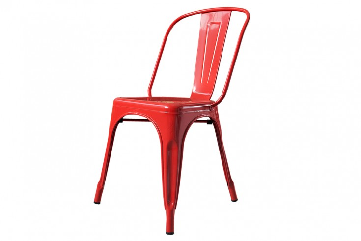 Stylischer design stuhl montmartre rot 85cm for Stuhl design rot