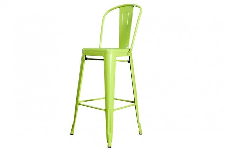 Design Barstuhl MONTMARTRE lemon 115cm Designklassiker Barhocker Industrial Finish