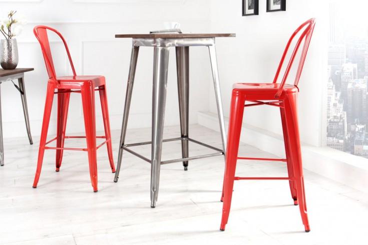 Design bartisch montmartre silber metall bistrotisch for Design bistrotisch