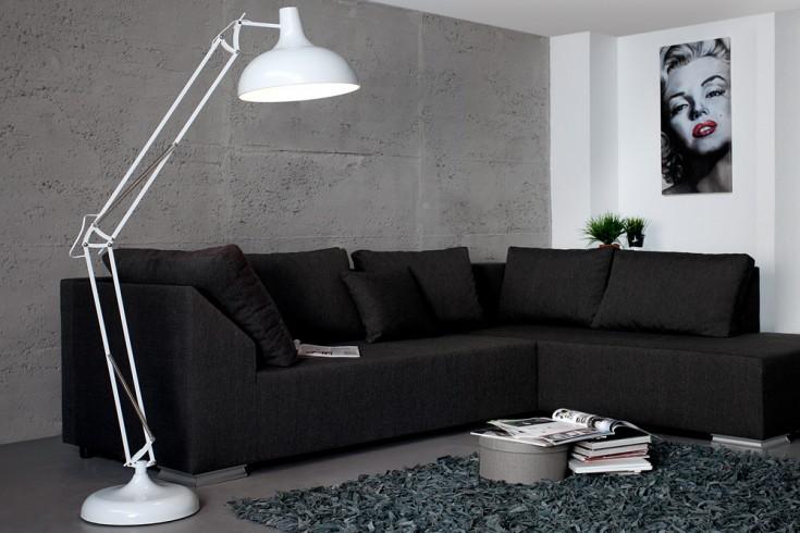 stylische stehlampe loft 180cm wei vintage stehleuchte industrielampe riess ambiente onlineshop. Black Bedroom Furniture Sets. Home Design Ideas