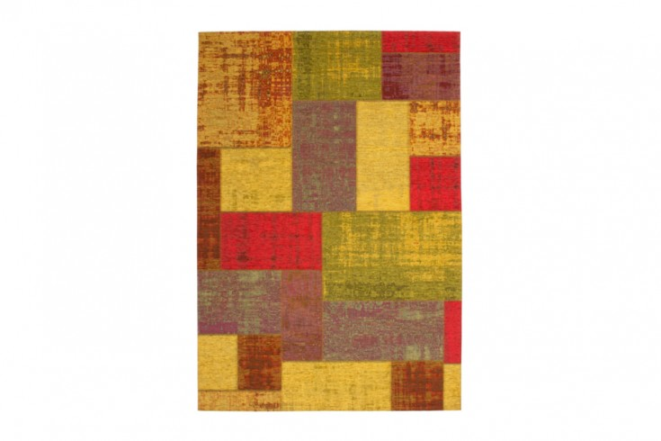 Exklusiver Design Teppich MARRAKESCH Vintage Optik bunt 155x230cm