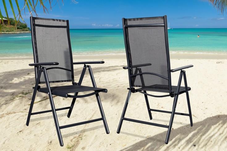gartenstuhl pacific hochlehner aus alu kippbar textilene r ckenlehne schwarz riess ambiente. Black Bedroom Furniture Sets. Home Design Ideas