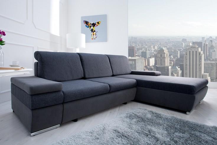 modernes design ecksofa select anthrazit strukturstoff. Black Bedroom Furniture Sets. Home Design Ideas