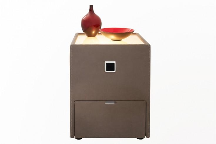design nachtkommode palermo f r boxspringbetten taupe mit. Black Bedroom Furniture Sets. Home Design Ideas