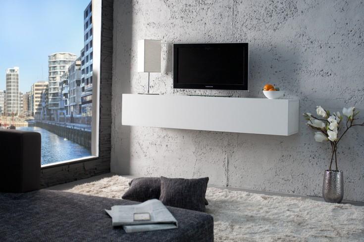 Design CUBE weiß Hochglanz Wandregal TV Board Schreibtisch made in Italy