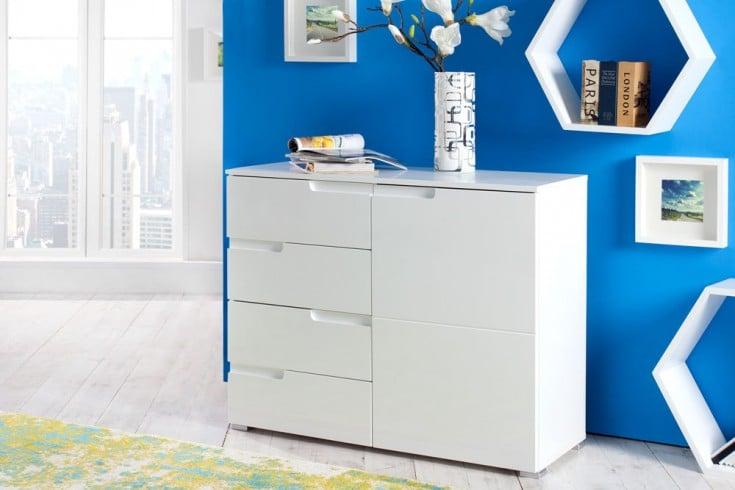 Design Sideboard CLUB 100cm weiß High Gloss Kommode