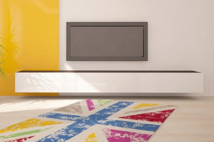 Design POP ART Teppich UNION JACK 160x230cm farbig