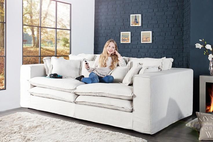xxxl hussensofa cloud natur leinen stoff hussen 230cm riess. Black Bedroom Furniture Sets. Home Design Ideas