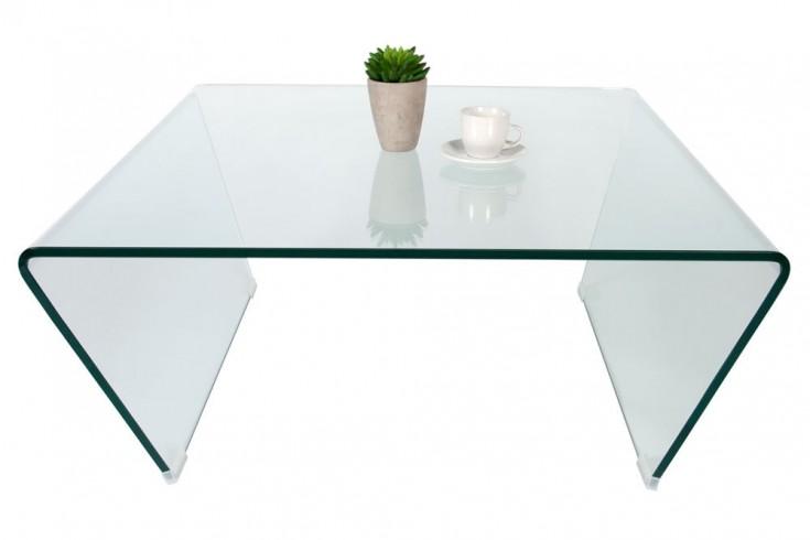 Design Trapez GHOST Couchtisch 80x80cm gehärtetes Glas
