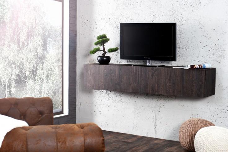 Moderner Design CUBE Eiche wenge-Optik Wandregal TV Board made in Italy