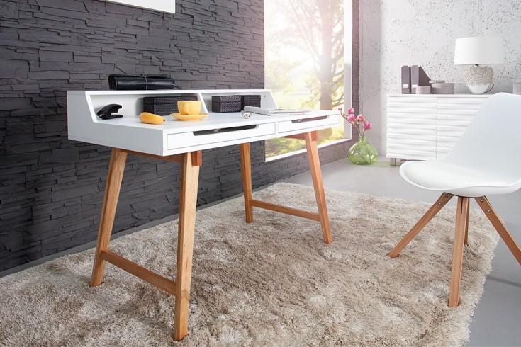 schreibtisch sekret r tiffy 110cm wei beine echt eiche riess. Black Bedroom Furniture Sets. Home Design Ideas