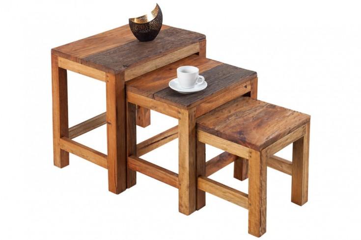 beistelltisch bali 3er set aus recycelten balinesischen fischerbooten couchtisch riess. Black Bedroom Furniture Sets. Home Design Ideas