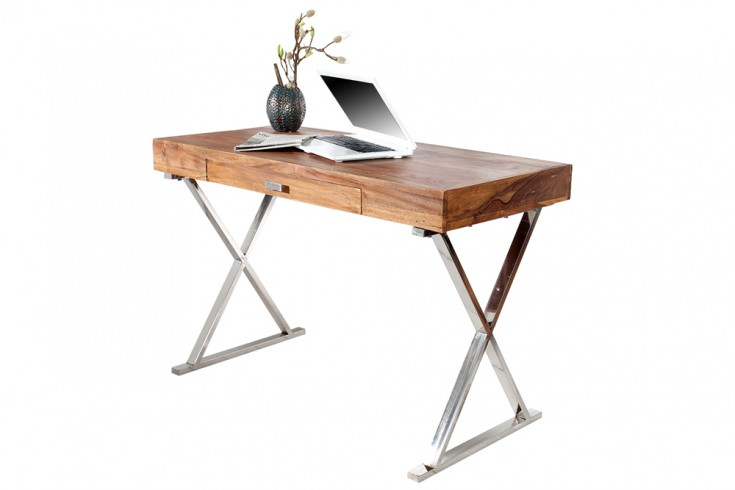 Design Schreibtisch GRACE 120cm Sheesham Stone Finish
