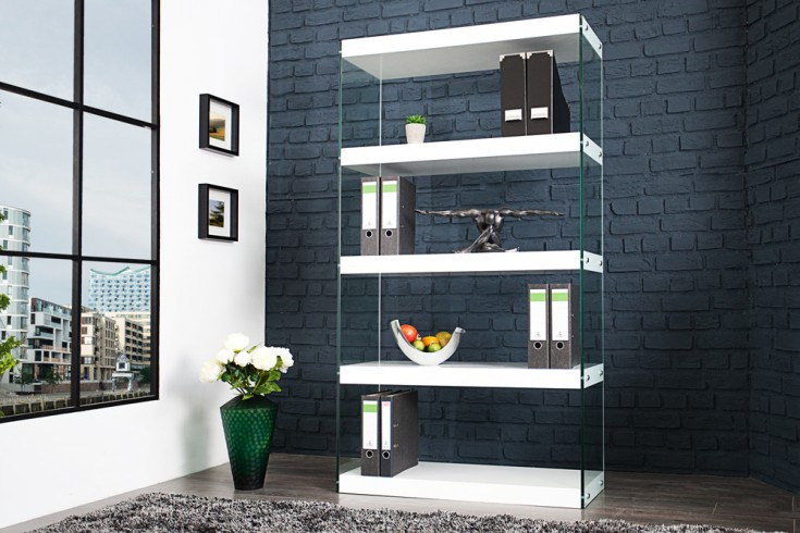 design b roregal hochglanz glas komposition riess. Black Bedroom Furniture Sets. Home Design Ideas