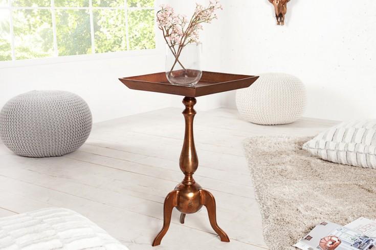 Stylischer Design Tablett Tisch TRAYFUL 55cm Beistelltisch Alu kupferfarbig