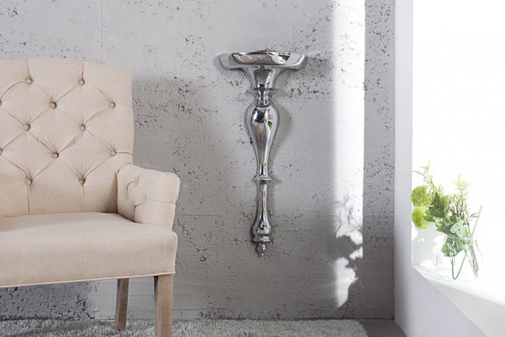 Design Wandkonsole SCALA Alu 60 cm Barock Beistelltisch silberfarbig