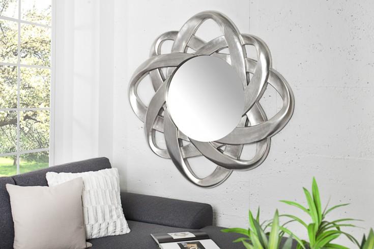 Moderner Design Spiegel INFINITY silber 95x95cm