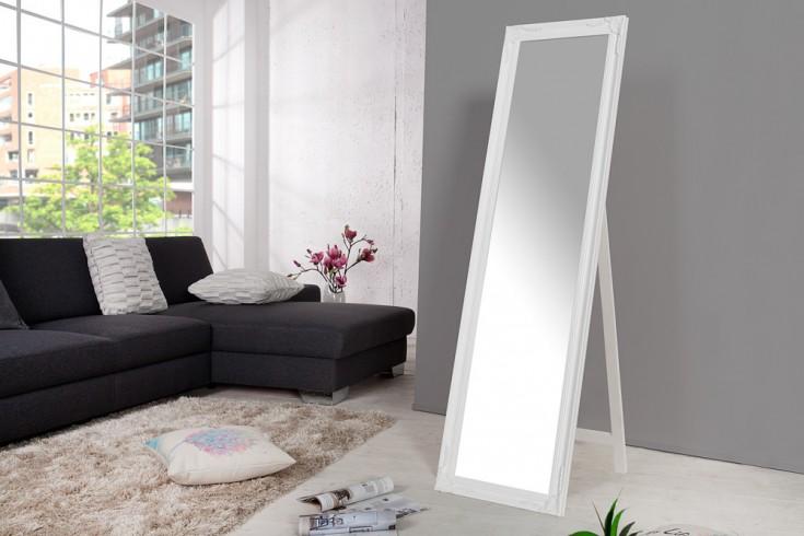 Design Barock Standspiegel VERSAILLES weiß 160x45cm