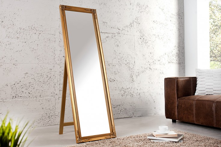 Design Barock Standspiegel VERSAILLES gold 160x45cm