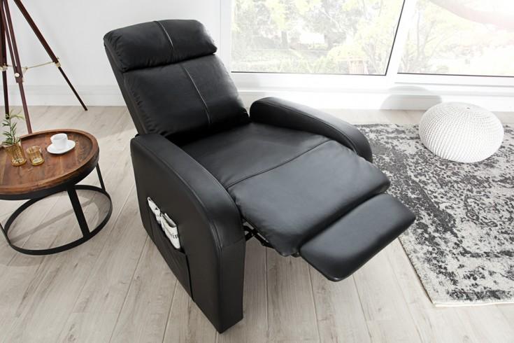 Moderner Relaxsessel COSY mit Liegefunktion schwarz