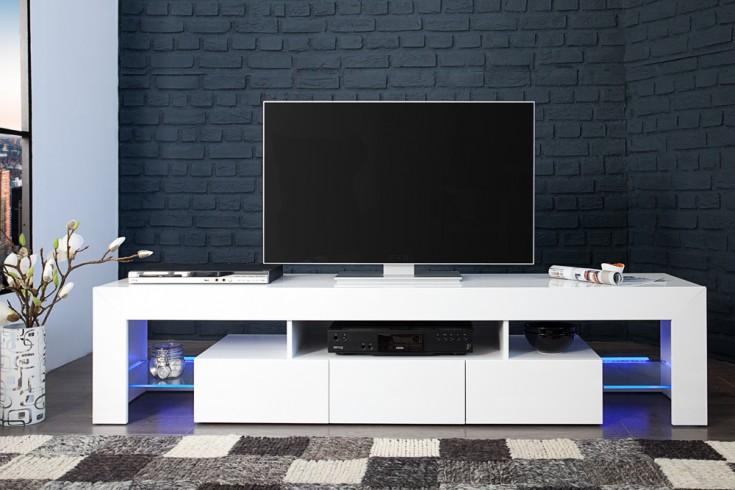 Tv Lowboard Mit Led Beleuchtung ~  TVLowboard AMBIENCE Hochglanz weiß 180cm mit LED Beleuchtung
