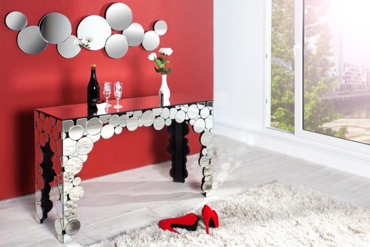 Extravagante Konsole REDONDO mit kreisrunden Spiegelfronten