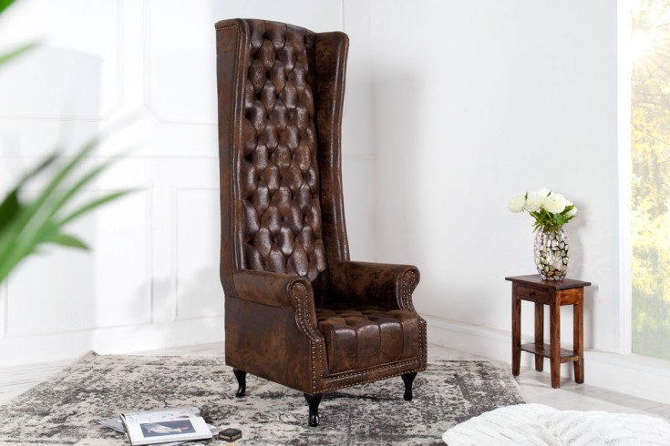 Thronstuhl Sessel ROYAL CHAIR im Antik Look