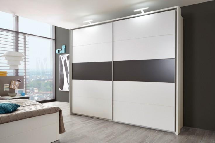 Design Schwebetürenschrank SOHO 270cm weiß-lava Kleiderschrank