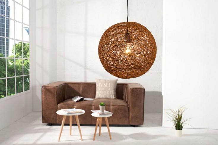 Stylische Hängeleuchte COCOON M in natur-braun 35cm Lampe