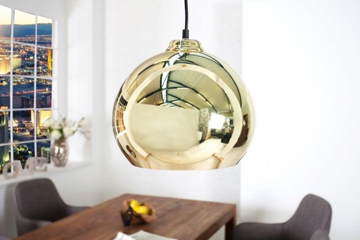 Exklusive Designer Hängeleuchte GOLDEN BALL