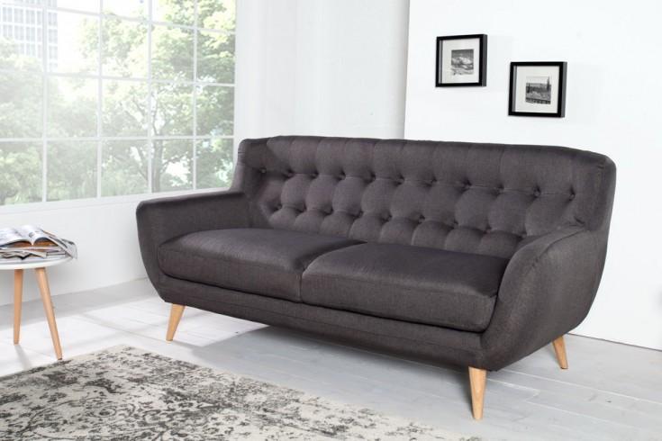 Design 3er Sofa SCANDINAVIA MEISTERSTÜCK 185cm anthrazit 3-Sitzer
