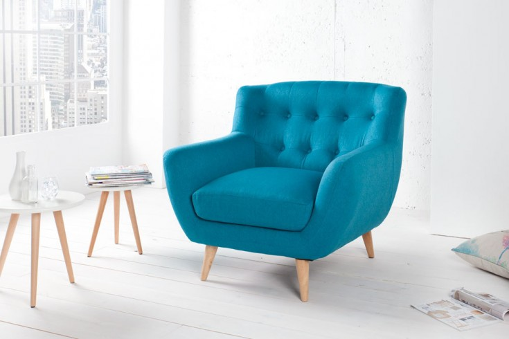 retro designklassiker sessel scandinavia meisterst ck petrol riess ambiente onlineshop. Black Bedroom Furniture Sets. Home Design Ideas