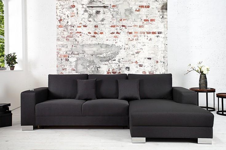 Design Ecksofa COSI mit Schlaffunktion Dunkelgrau Original CANDY Lifestyle