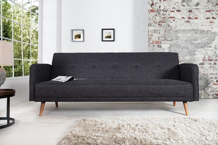 schlafsofa scandinavia anthrazit riess. Black Bedroom Furniture Sets. Home Design Ideas
