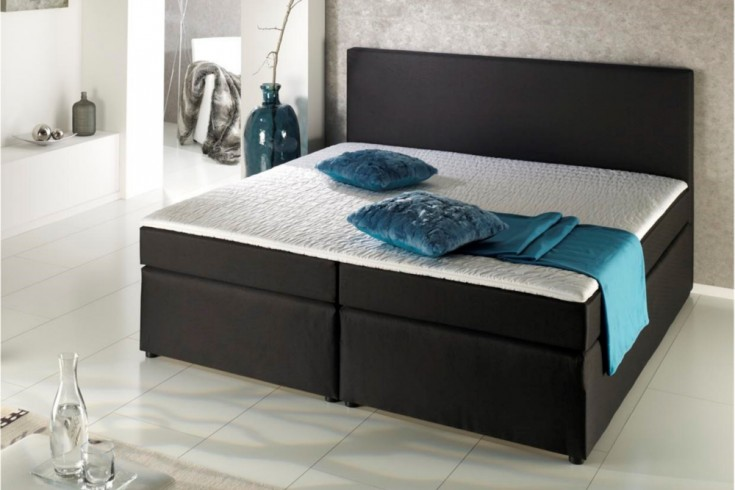 modernes boxspringbett sky schwarz 180x200 cm hotelbett riess ambiente onlineshop. Black Bedroom Furniture Sets. Home Design Ideas
