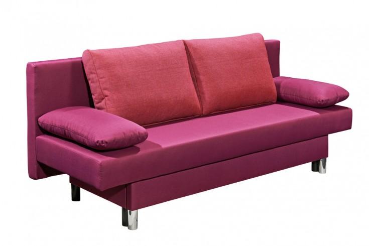 Funktionssofa CAMBRIDGE pink 190cm Bettkasten Gästebett-Funktion