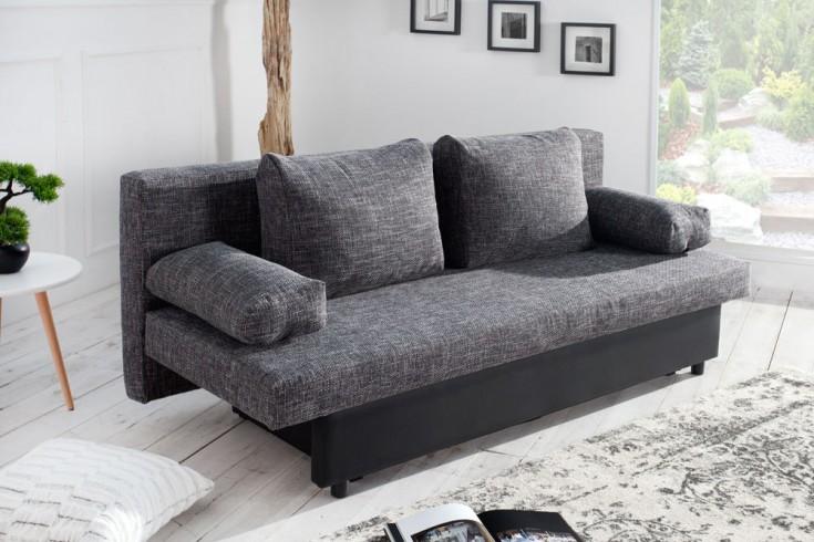 design schlafsofa california strukturstoff anthrazit. Black Bedroom Furniture Sets. Home Design Ideas