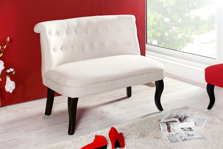 Design Sofa BOUTIQUE hochwertiger Leinenstoff beige mit Nackenrolle