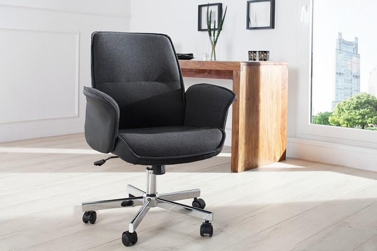 Exklusiver Design Bürostuhl COMFORT anthrazit ergonomisch und höhenverstellbar