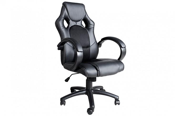 Exklusiver Design Bürodrehstuhl RICKY ORIGINAL MCA schwarz im Sportsitz Design