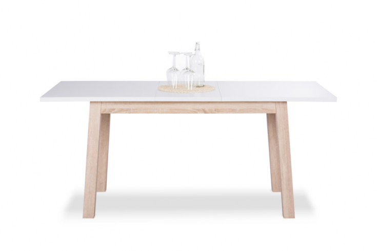 Ausziehbarer design esstisch stockholm wei 140 180cm for Design esstisch 140