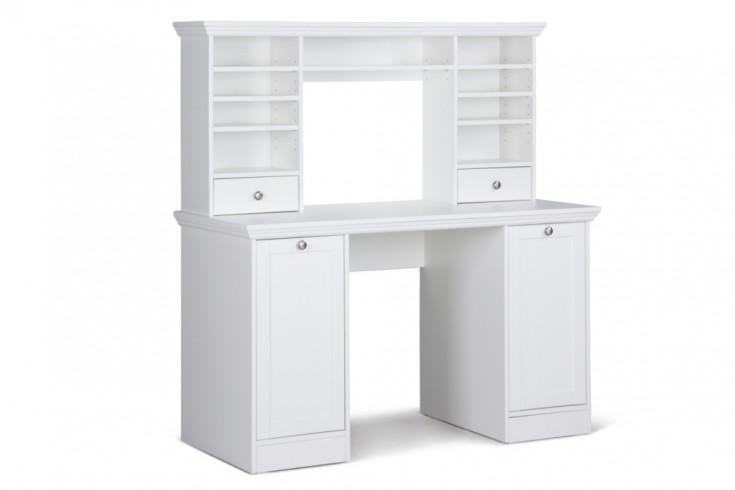 klassischer design schreibtisch provence mit aufsatz wei 135cm im landhausstil riess ambiente. Black Bedroom Furniture Sets. Home Design Ideas