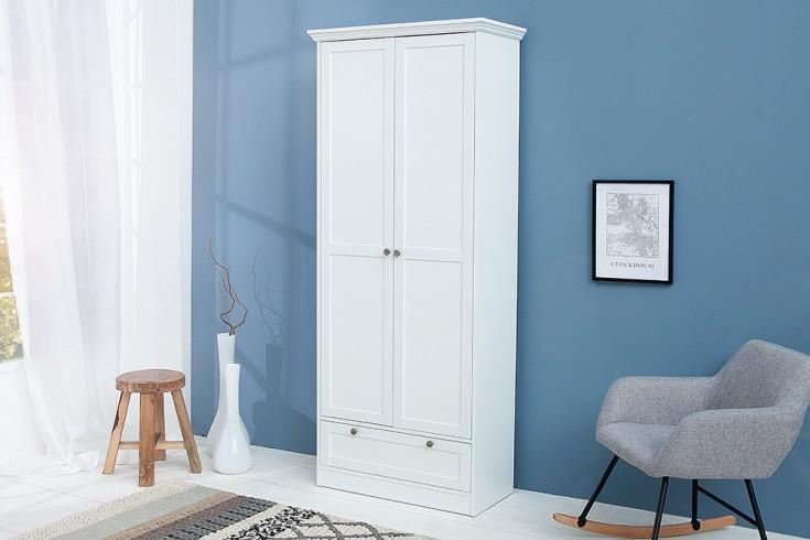 Klassischer Design Allzweckschrank PROVENCE 200cm weiß im Landhausstil