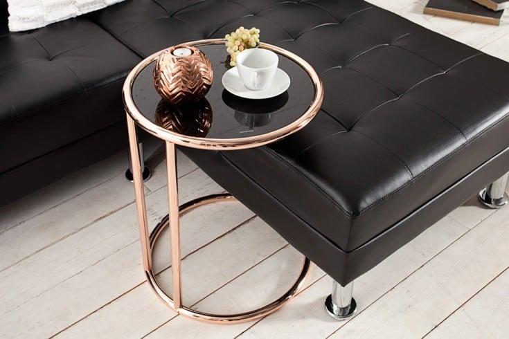 Design Beistelltisch ART DECO 40cm kupfer  schwarz