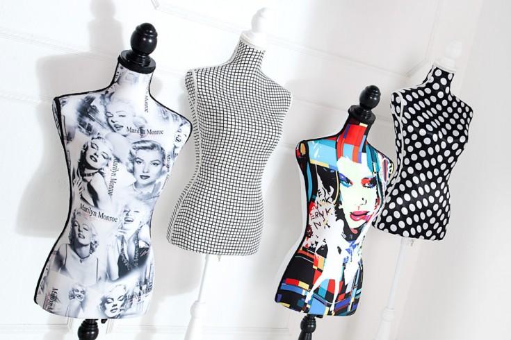 Design Mannequin HAUTE COUTURE - Punkte Schneiderpuppe