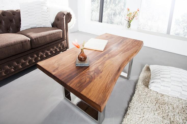 massiver baumstamm couchtisch living edge sheesham. Black Bedroom Furniture Sets. Home Design Ideas