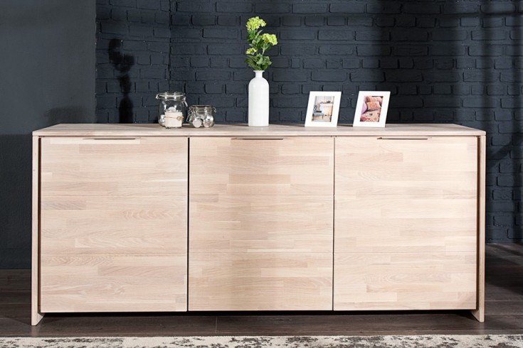 massives sideboard wild oak keilverzinkte oberfl che 180cm wei gek lkt made in eu riess. Black Bedroom Furniture Sets. Home Design Ideas
