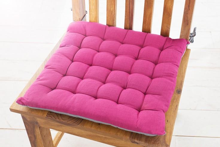 Design Sitzkissen SUMMER 40x40cm 2-farbig pink grau
