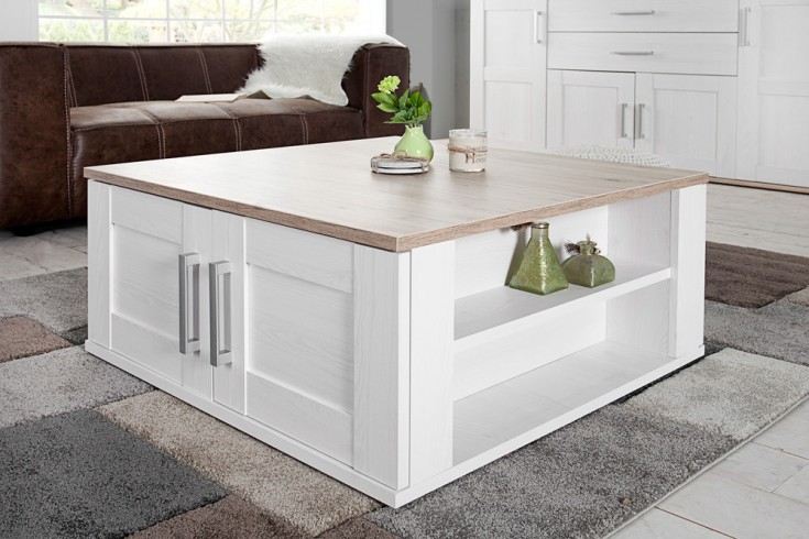 klassischer design couchtisch notting hill 80cm weiss san remo hell riess ambiente onlineshop. Black Bedroom Furniture Sets. Home Design Ideas